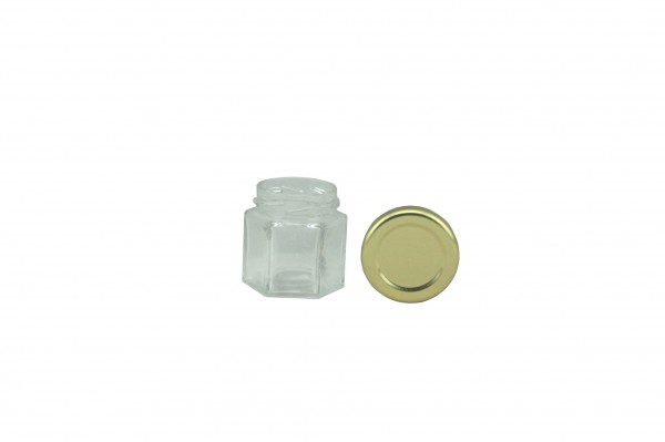TO Sechseckglas 106 ml gold