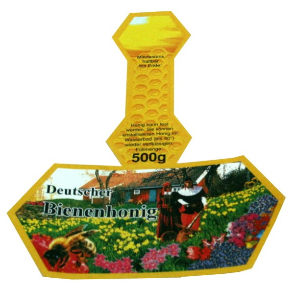 500g Honigglasetikett Neutral