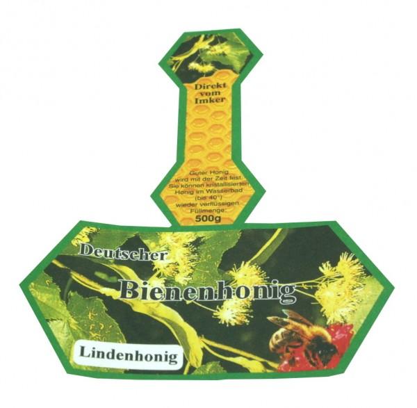 500g Honigglasetikett Lindenhonig