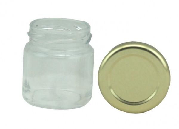 TO Rundglas 50 ml gold