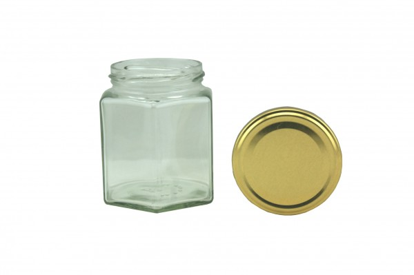 TO Sechseckglas 196 ml gold