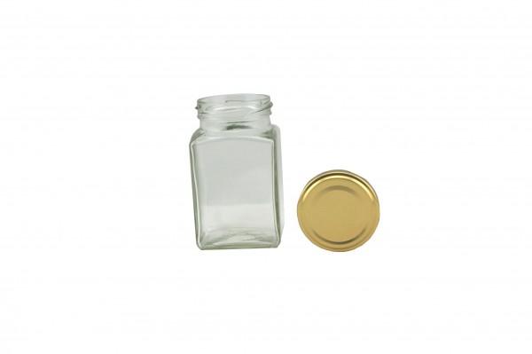 TO Viereckglas 260 ml gold