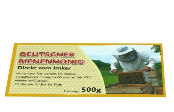 500g Honigglasetikett Imkermotiv