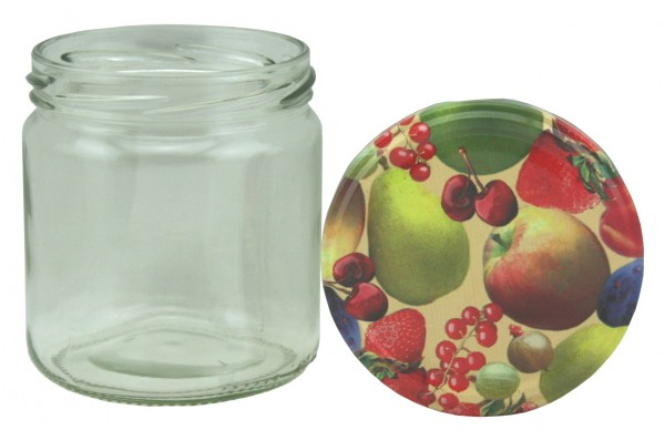 TO Rundglas 400 ml Obstmotiv