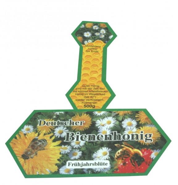 500g Honigglasetikett Frühjahrshonig