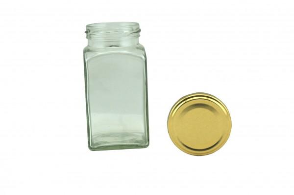 TO Viereckglas 312 ml gold