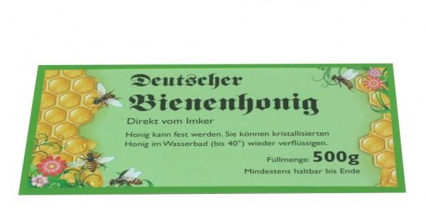 500g Honigglasetikett grün