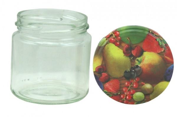 TO Rundglas 212 ml Obstmotiv