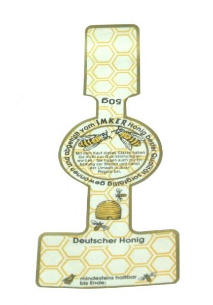 50g Honigglasetikett 50 Stück