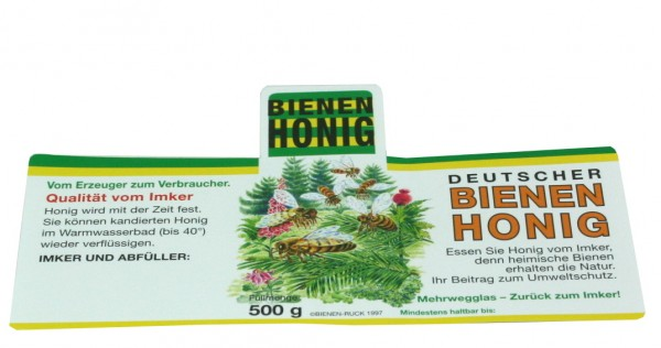 Honigglasetikett Flores Wald 500g